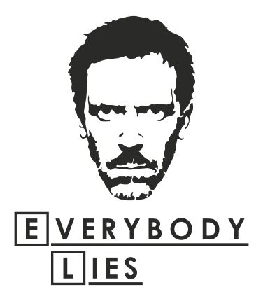 Samolepka House MD - Everybody Lies